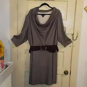 Jessica Howard 24W Belted Cowl Neck Dress